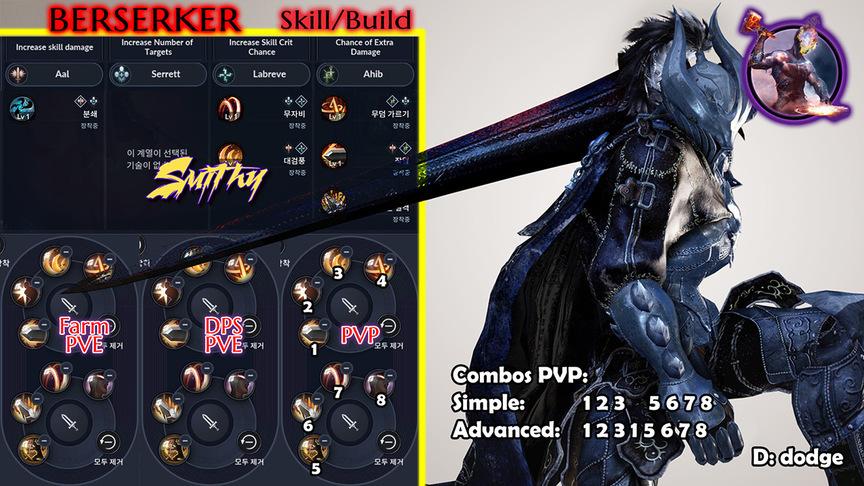 Skill build berserker
