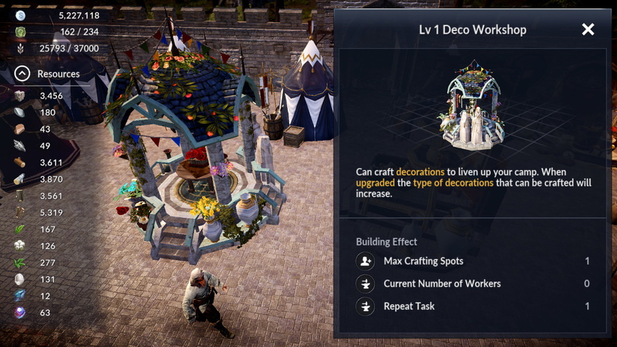 Deco Workshop Black Desert Mobile
