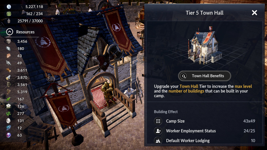Town hall Black Desert Mobile