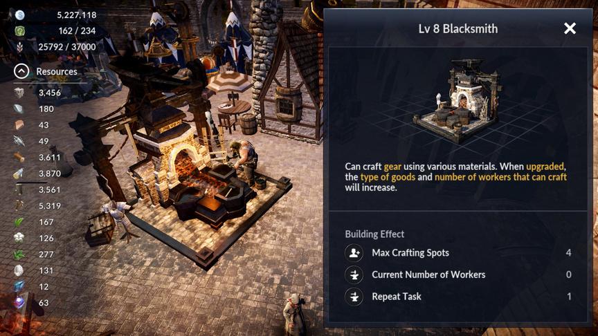 Blacksmith Black Desert Mobile