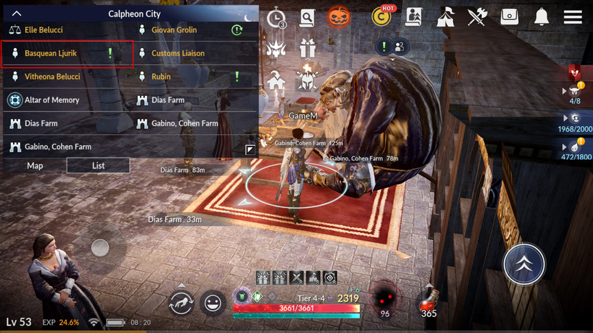 Квесты на вес(LT) в Black Desert Mobile