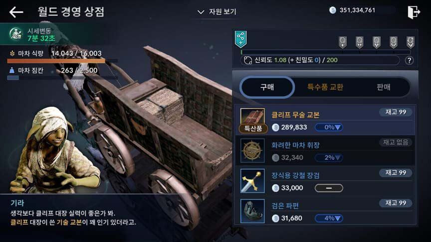 Trading Black Desert Mobile