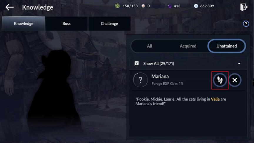 Способ получения знаний в игре в Black Desert Mobile